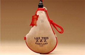 "La mítica bota de vino ""Las Tres ZZZ"""