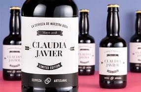 Pack cerveza personalizada, «Parejas»