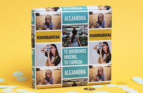 Papel de regalo personalizado, «Texto y fotos»