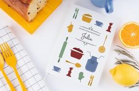 Libreta de recetas personalizable para cocinillas