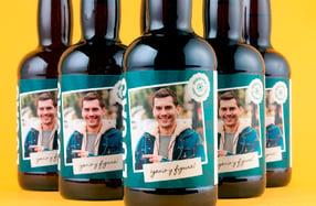 Pack cerveza personalizada, «Genio y Figura»