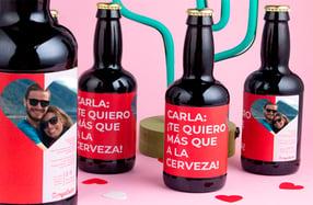 Pack cerveza personalizada, «Romántico»