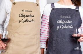 Delantales personalizados parejas, «La cocina de...»