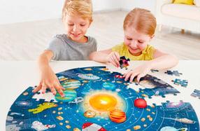 Puzzle gigante del sistema solar