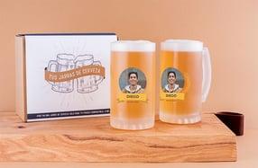 Jarras cerveza personalizadas, «Nombre y foto»