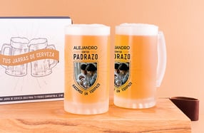 Jarras cerveza personalizadas, «Padrazo-Equipazo»