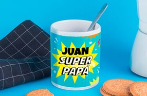 "Taza personalizable ""Superpapá"""