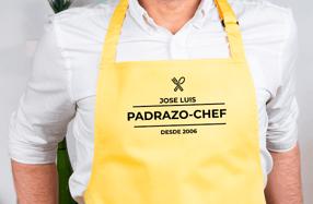 Delantal personalizado de algodón, «Chef»