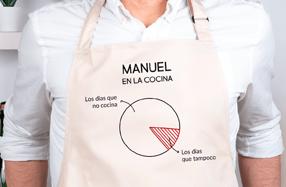 Delantal personalizado algodón, «Días en la cocina»