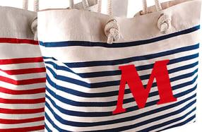 Bolso de playa personalizado, «Iniciales»