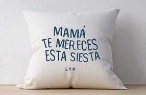 Cojín personalizado, «La siesta de mamá»