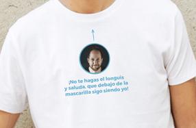 """Camiseta personalizada chico. Modelo """"Mascarilla"""""""