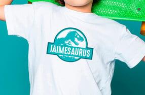 Camiseta personalizada niño. Modelo «Dinosaurio»
