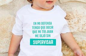 "Camiseta personalizada niño ""Mi tío me dejó sin supervisar"""