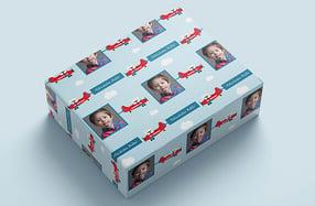Papel de regalo personalizado, «Aviones»