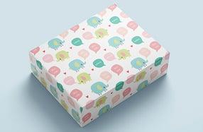 Papel de regalo personalizado, «Elefantes»
