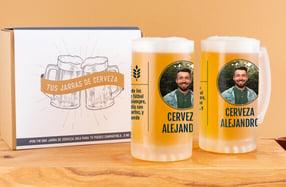 Jarras cerveza personalizadas, «Foto y texto»