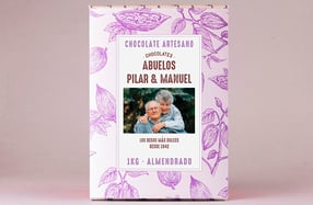 Tableta de chocolate gigante personalizada para abuelos