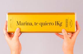 Lingote de chocolate de 1KG personalizado