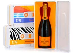 Champagne Veuve Clicquot edición Cassette