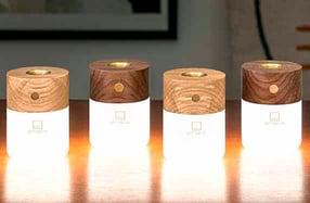 Lámpara LED con difusor portátil