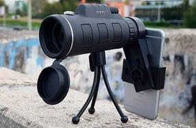 Telescopio con trípode para smartphone