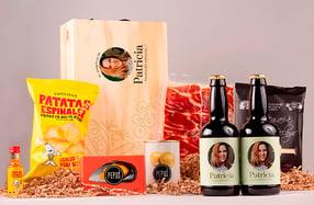 Aperitivo para cerveceros en caja personalizada