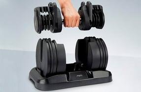 Mancuerna con peso ajustable para deportistas