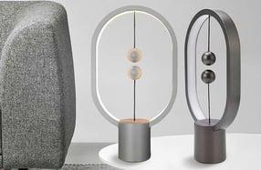 Lámpara oval de interruptor magnético