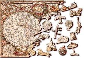 Puzzles de mapas, originales y de madera