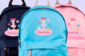 Mochila personalizada para niños, «Bailarina»
