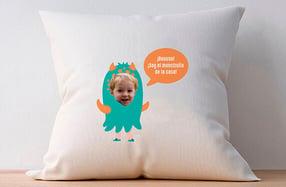 Cojín personalizado niños, «Monstruo de la casa»