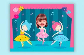 """Puzzle personalizado para niños, """"Bailarina"""""""