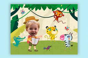 """Puzzle personalizado para niños, """"Selva"""""""