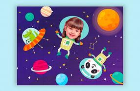 """Puzzle personalizado para niños, """"Espacio"""""""
