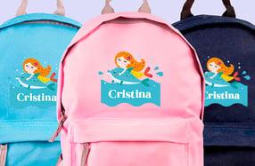 Mochila personalizada para niños, «Sirena»