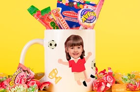 "Taza personalizable niños, ""Futbolista"""