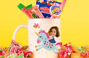 Taza personalizable para niños, «Unicornio»
