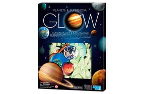 Pegatinas fluorescentes de planetas y estrellas