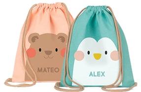 Mochila de saco infantil personalizada
