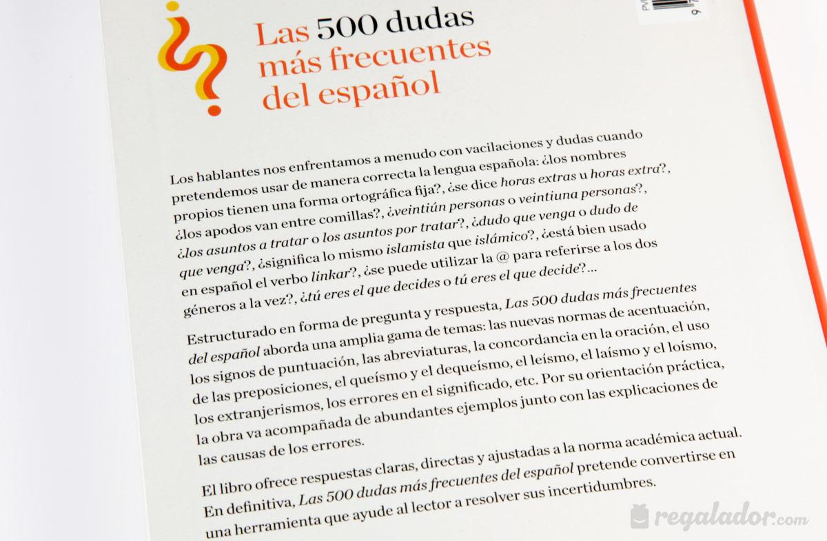 """Libro """"500 dudas frecuentes del español"""""""