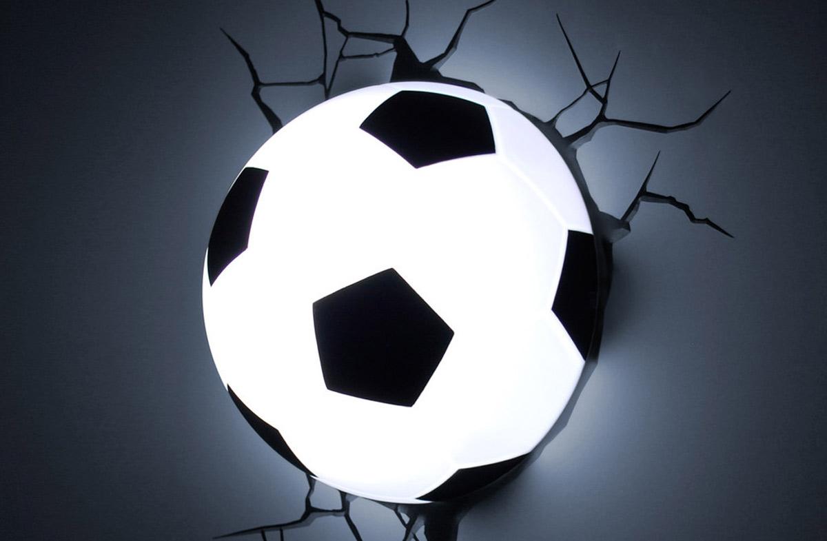 Regalador l mpara 3d con forma de bal n de f tbol - Papel de pared barcelona ...