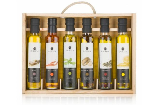 Estuche con aceites de oliva gourmet condimentados