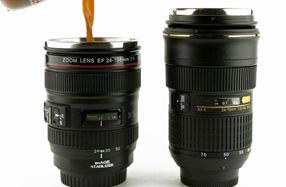 Tazas y termos replicas exactas de Objetivos Canon y Nikon