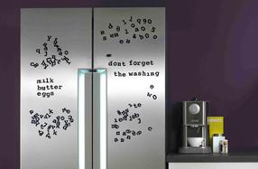 Abecedario magnético para dejar mensajes en la nevera