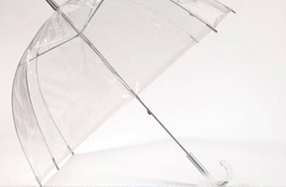 Paraguas transparente con forma de cúpula