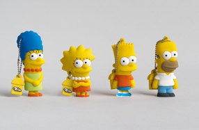 Los USB de Los Simpsons: Homer, Marge, Bart y Lisa