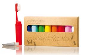 Los mini cepillos de dientes multicolor para viajes... o visitas