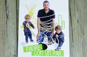 """""""Padre con un par"""": el libro para padres con dos hijos"""