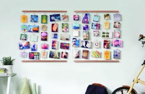 Colgador de fotos y notas